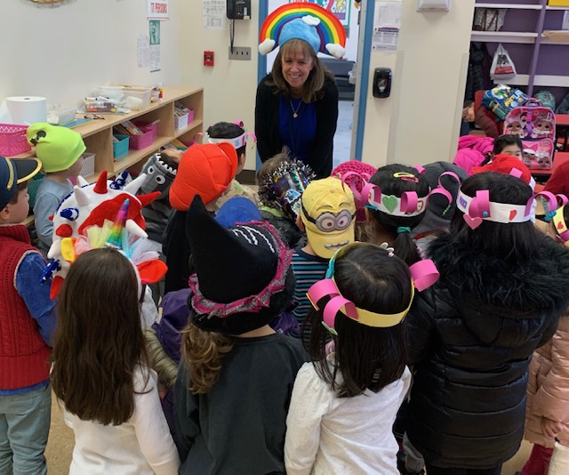 Celebrating crazy hat day