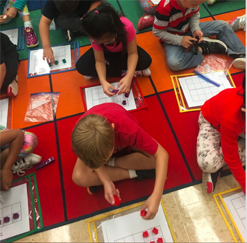 students using counters