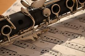 photo of clarinet and music