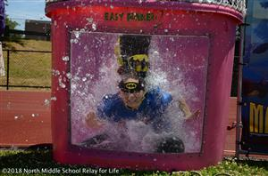 image of dunk tank at field day