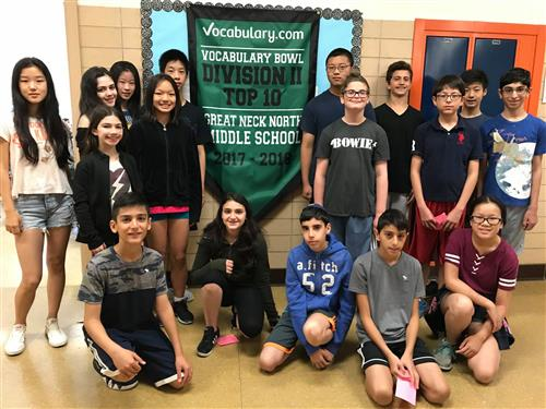 Vocabulary.com Vocabulary Bowl Division 2 top 10 great neck north middle school 2017-2018