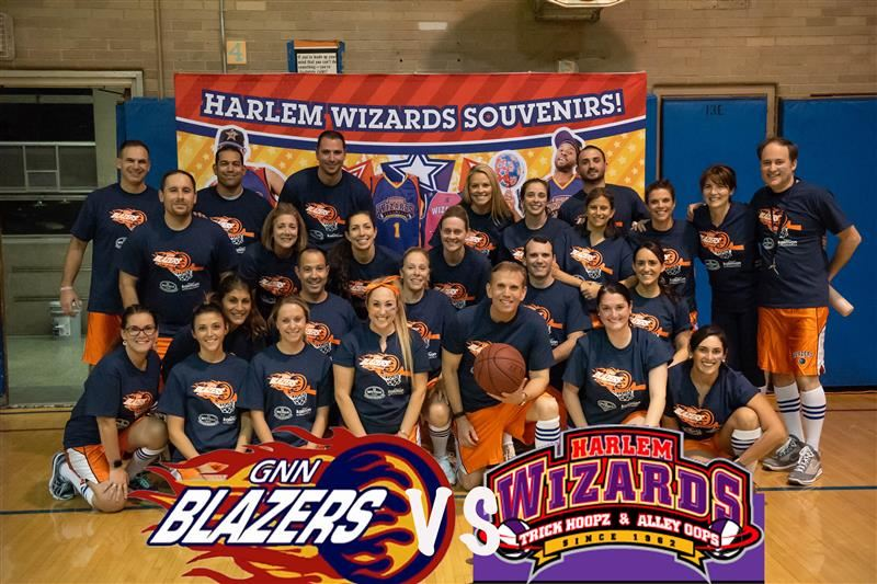 Harlem wizards vs GNN Blazers teacher players