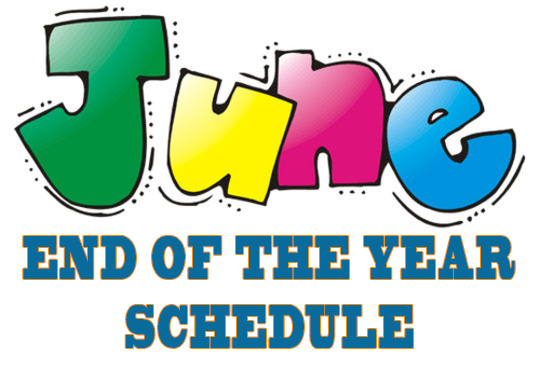 June End of the Year Schedule