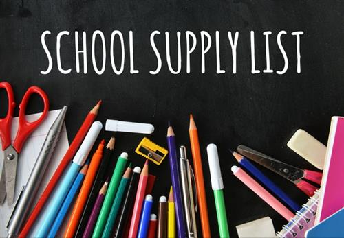 School Supply List and supplies