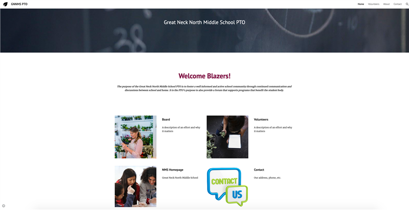 image of website