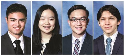 Image of four Regeneron Science scholars