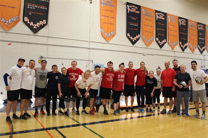 Image of North High Faculty volleyball players