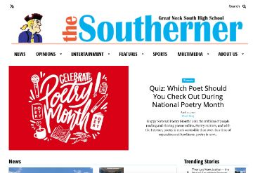 The Southerner website screen shot