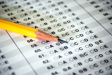 photos of standardized test answer sheet