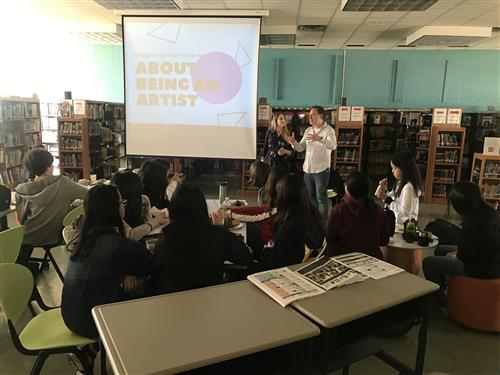 Authors Lindsay Champion and Derek Milman visit SMS
