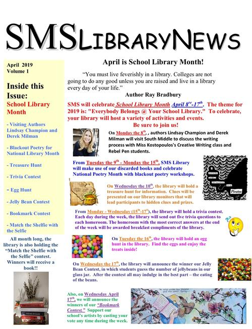 SMS Library Events for Library Month