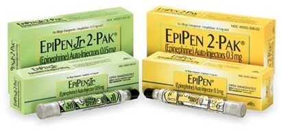 Photo of EpiPen Jr and PeiPen 2-Paks