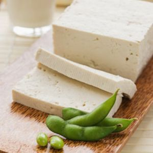 Image of soy block with two slices
