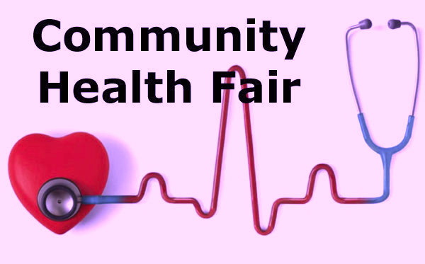 Image of Community Health Fair with stethoscope and heart