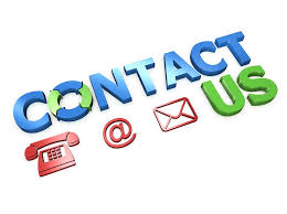 Contact us with phone and e-mail symbols