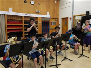 Instrumental Music students playing instruments