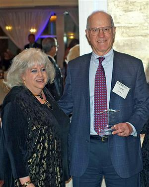 Photo of Board of Education President Barbara Berkowitz with Vice-President and Honoree Lawrence Gross