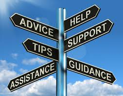 signs pointing to advice, help, support, tips, assistance, guidance