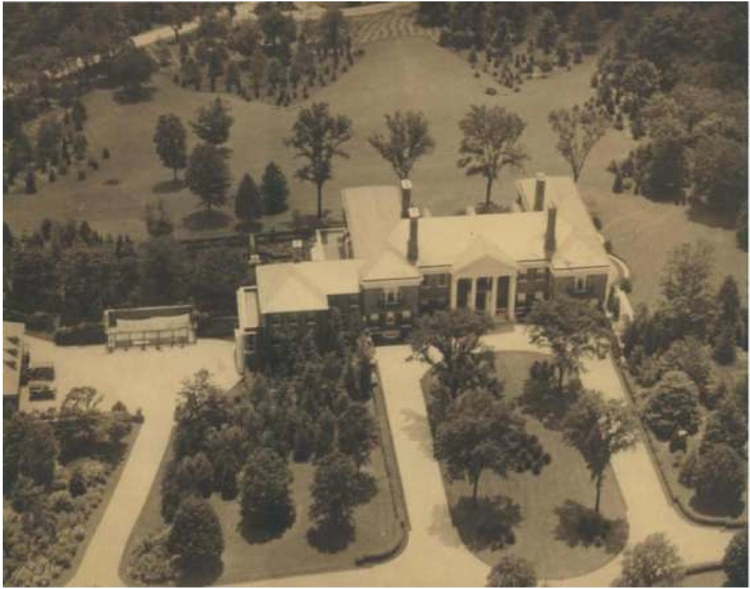 Photo of Aerial View of Phipps Administration Building