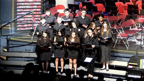 The North High Chamber Choir performs in concert.
