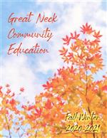 Cover of the Great Neck Community Education Catalog 2020-21