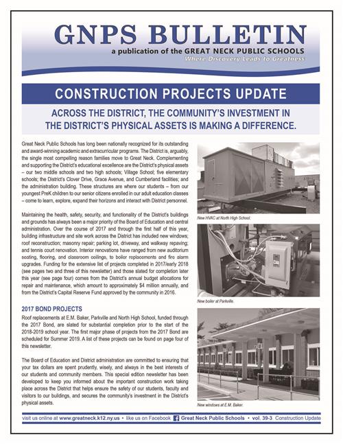 Construction Newsletter
