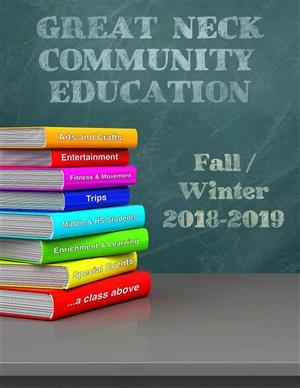 Catalog Cover for Community Ed Fall/Winter 2018-19