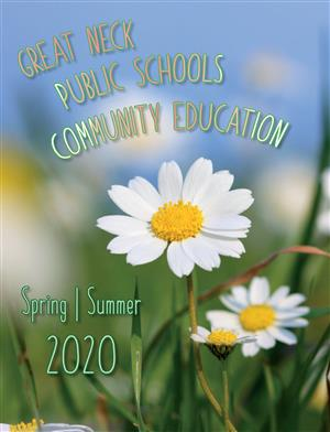 Image of the cover of the Community Ed Spring/Summer 2020 catalog