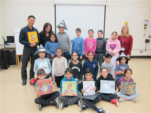 Students with childrens author