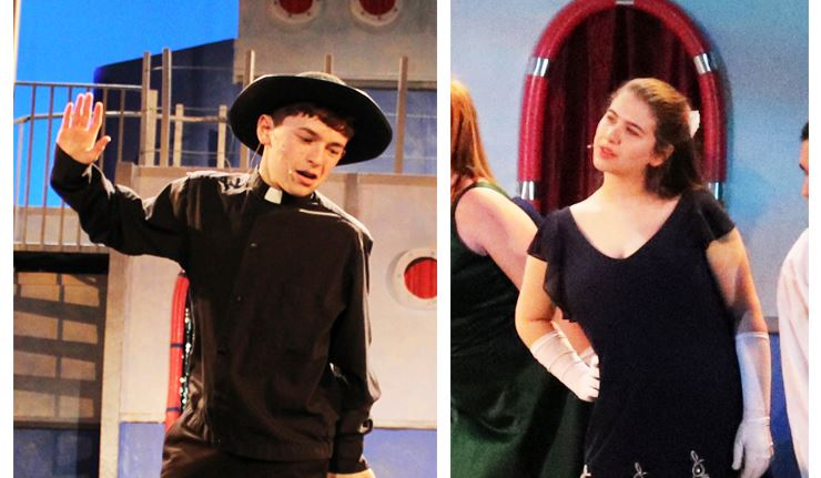 Photos of Jack Brenner and Ashley Schlusselberg from the school production of Anything Goes