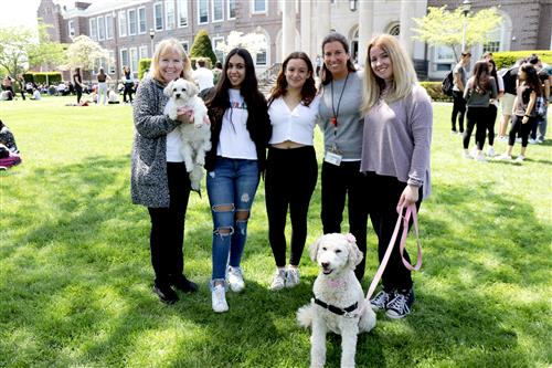Representatives from Therapy Dogs of LI and members of the North High Animal Rights Club