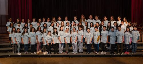 Cast and crew of the North Middle production of Mary Poppins