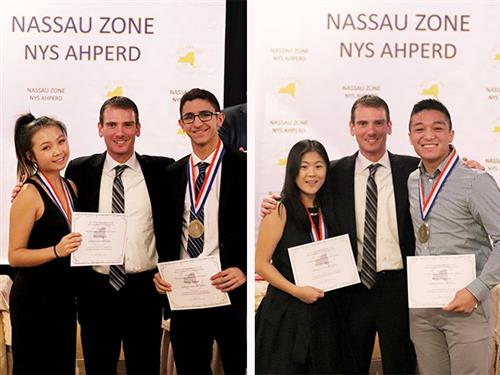 Recipients of the Nassau Zone Award receive their certificates at the annual dinner on Dec. 3.