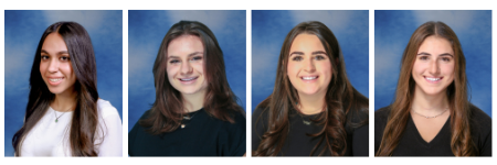 Yearbook photos of four North High honorees through the Prudential Spirit of Community Awards Program