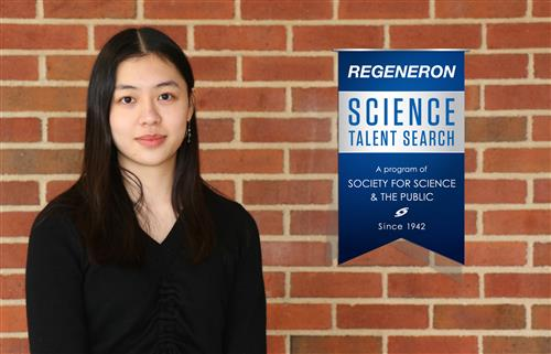 Mia Wang with the Regnerson STS Banner graphic