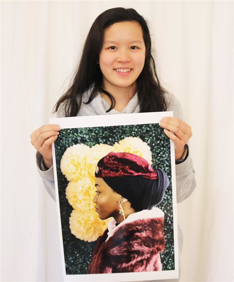 National Gold Key Award recipient Kiele Hwee with her award-winning photograph.