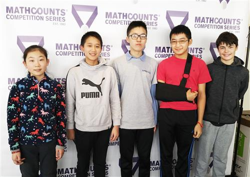 South Middle students at the New York State Mathcounts Competition.