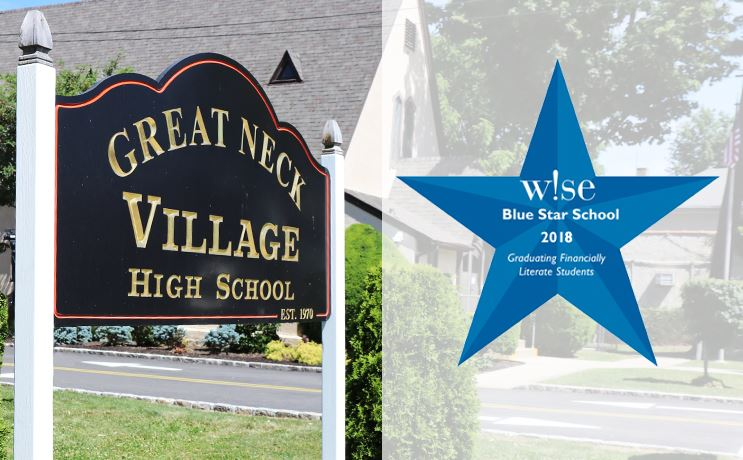 Village School exterior with wise blue star logo