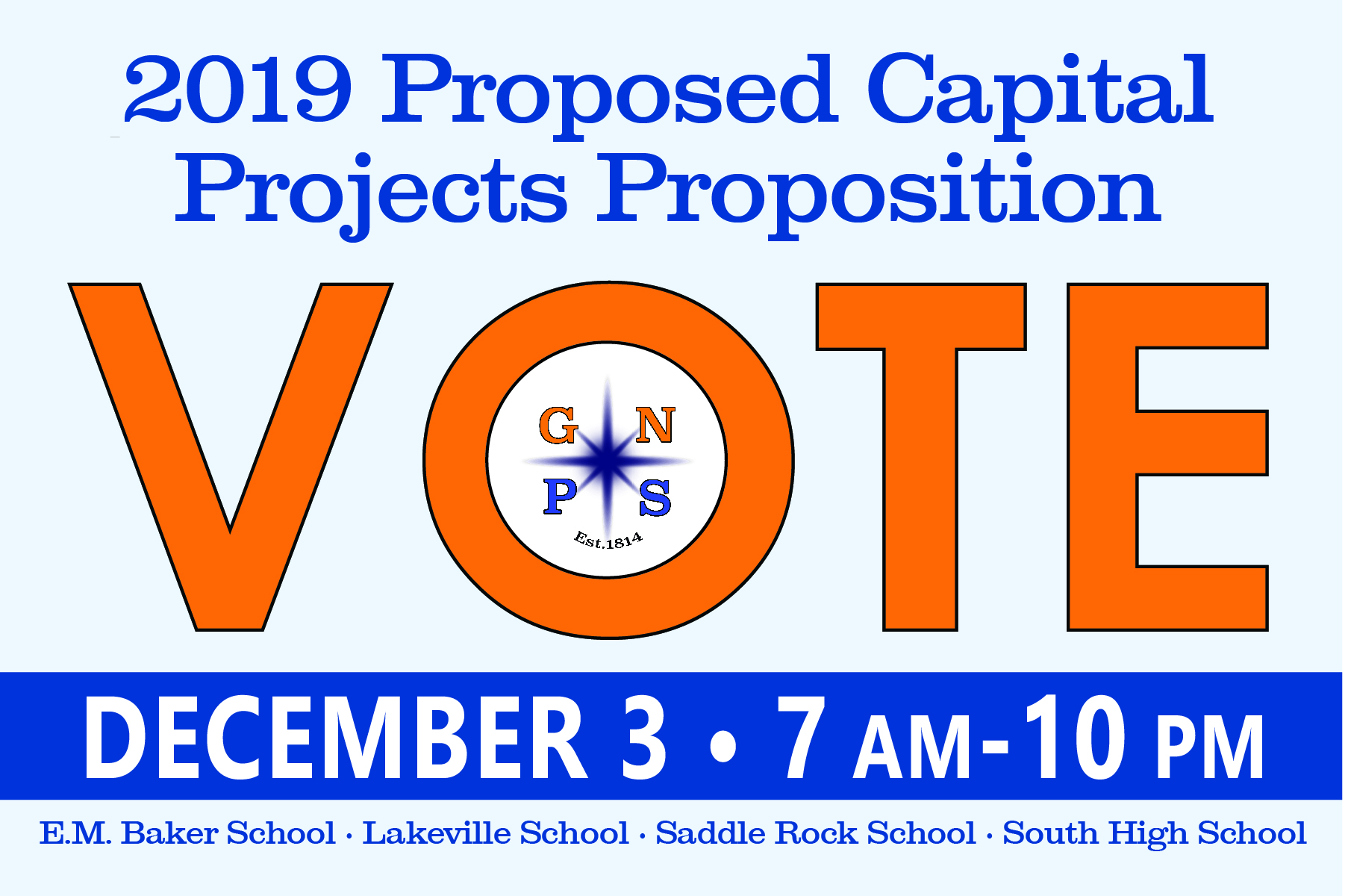 Vote December 3 from 7 a.m. - 10 p.m.