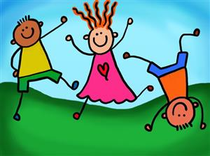 Clip art Kids jumping