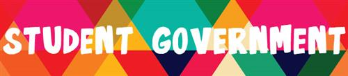 Student Government Banner with colored triangle background