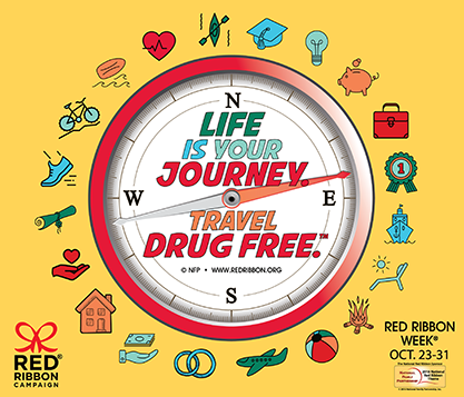 Life is your journey red ribbon week october 23-31 Red ribbon campaign compass