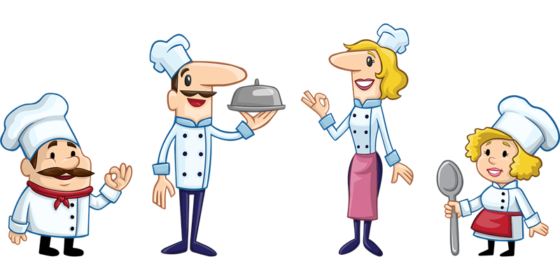 clip art image of a chefs
