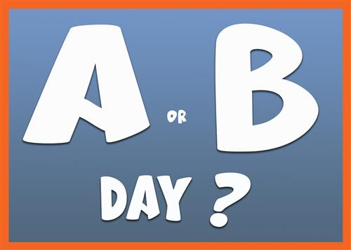 A or B Day? logo