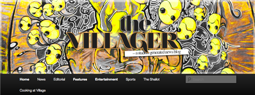 Screenshot of The Villager website